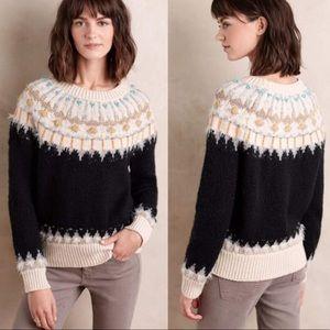 Sleeping On Snow Beaded Fairisle Pullover Sweater